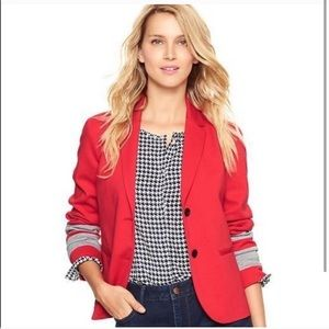NWOT Gap academy blazer in red